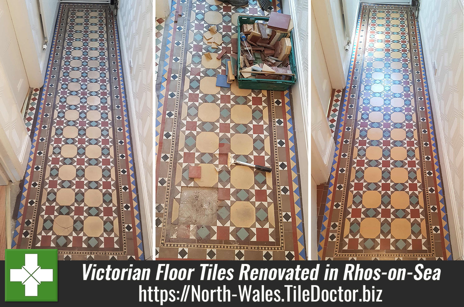 Renovating a Victorian Tiled Hallway in Rhos-on-Sea